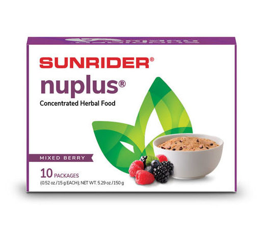 NUPLUS<sup>®</sup> – NATURALLY PLAIN, MIXED BERRY, PIÑA COLADA & APPLE CINNAMON 10/15g Packages
